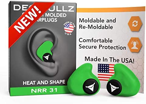 Decibullz Custom Molded Earplugs 31dB Highest NRR Comfortable Hearing Protection for Shooting product image