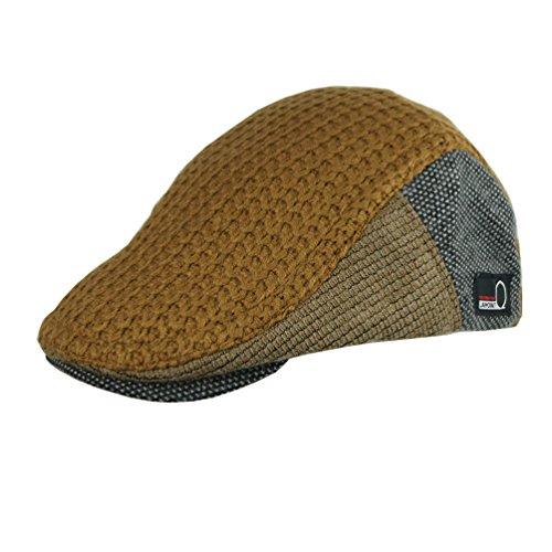 Jamont Winter Warme flache Mütze Duckbill Hat Newsboy Ivy Irish Cabbie Scally Cap Gr. Einheitsgröße, #8228 Tawny