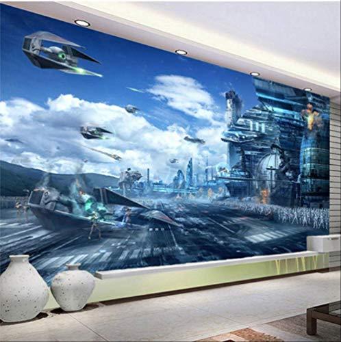 FANGXUEPING Hd Fantasy creatieve muurschildering Star Wars Science Fiction Fotobehang kinderen slaapkamer woonkamer 3D non-woven papier peint Enfant Breite 280cm * Höhe180cm Pro