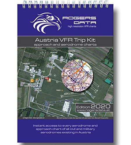 Austria Rogers Data VFR Trip Kit 200k: Anflugblätter und Flugplatzkarten aller Flugplätze Österreichs, Maßstab 1:200.000