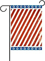 フラッグ フリーダムストライプフラッグ愛国心が強いスターストライプヴィンテージ赤青独立記念日7月4日ガーデンフラッグバナー屋外ホームガーデンフラワーポット装飾用 30 x 45cm