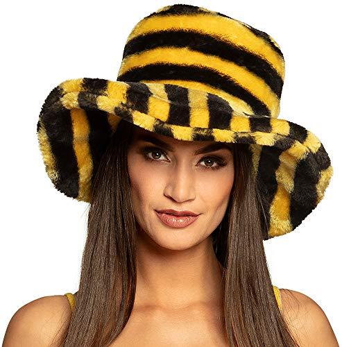 Hut zum Honigbienen Kostüm - Süßes Bee Hummel Insekten Zubehör für Fasching und Mottoparty Tierkostüm
