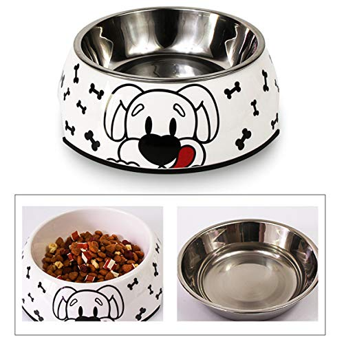 Generies Fressnapf, Futternapf rutschfest | für kleine & mittelgroße Hunde | Futternapf Katze | Hunde-Napf Hund | Katzen-Napf Edelstahl-Napf | Kunststoff (Large,Hund)