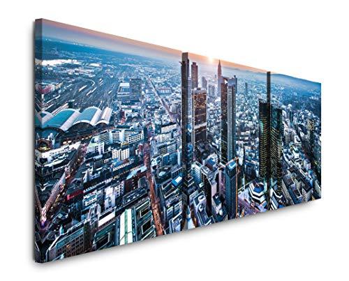 EAUZONE GmbH Frankfurt am Main 220 x 70cm - 3 Bilder je 70x70cm Bild XXL Panorama Deko Wandbilder auf Leinwand