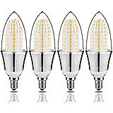 Yiizon LED Candelabra Bulb, 15W LED Candle Bulbs,Warm White 3000K Chandelier Bulbs, E12 Candelabra Base, 120V, 1500Lumens, Non-Dimmable 120 Watt Light Bulbs Equivalent, 4 Pack