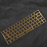 Brush Finish Brass PVD ANSI Positioning Board Plate Plate-Mounted Stabilizers for DZ60 YD60MQ PCB GK64 GK64x Hot Swap PCB (GK64x Plate)