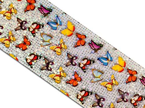 Magic metallicfolie d'un film Chromé de transfert pour nail art et manucure design Butterfly