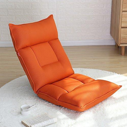 Brisk- Lazy Sofa Collapsible Einzelschlafsofa Dorm Room Computer Stuhl Schlafzimmer Balkon Erker Fenster Sessel (Farbe   Orange)