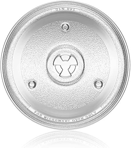 """10.5"""" Microwave Turntable Tray for Hamilton Beach, Sunbeam, Emerson P23, GE General Electric 10-1/2 inch Microware Glass Plate Replacement for Panasonic, Chefmate, Avant etc Microwave Oven Plate"""
