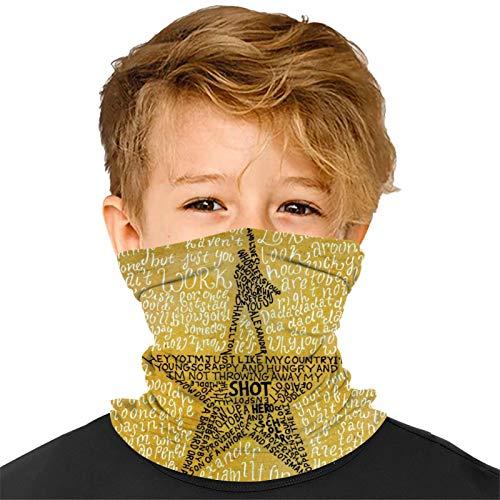 989 Polainas de cuello para niños J-e-lly Me-rc-h Bandanas de cara bufandas anti polvo boca pasamontañas diadema para niños niñas