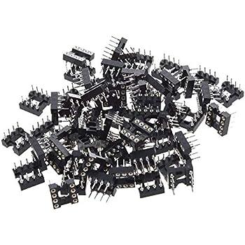 McIgIcM 60pcs 8pin IC Sockets DIP IC Sockets Adaptor Solder Type Socket