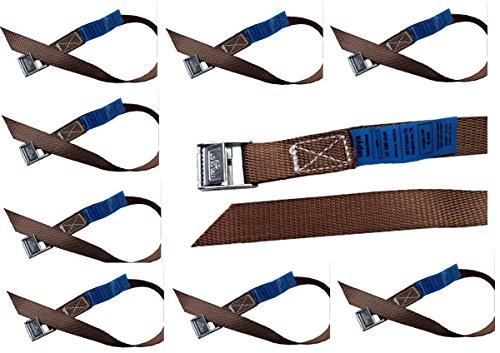 iapyx Befestigungsriemen-Set ideal zur Befestigung am Fahrradträger, Klemschloss Gurte, Spanngurte (10er Set, braun)