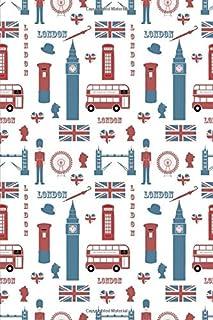 London Journal: UK Notebook Journal England Flag Journal Book Ruled Lined Page For Kids Teen Girl Women Lady Men Writer Tr...