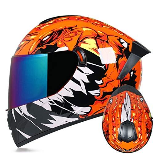 Casco Moto Fuoristrada Da Corsa Doppio Obiettivo Antiappannamento Cappucci Di Protezione Di Sicurezza Per Motocross Casco Integrale Per Moto Anti Collisione