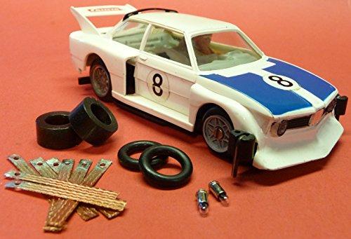 4-STÜCK Reifen + 8 SCHLEIFER + 2 GLÜHBIRNEN für Carrera Servo 140 V1 AUTO`s