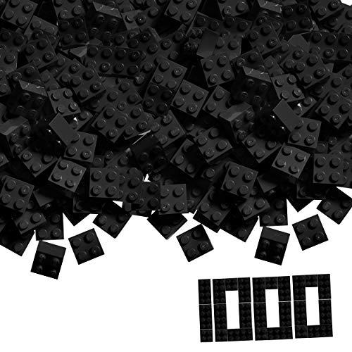 Simba 104114120 - Blox, 1000 schwarze Bausteine für Kinder ab 3 Jahren, 4er Steine, im Karton, vollkompatibel mit vielen anderen Herstellern