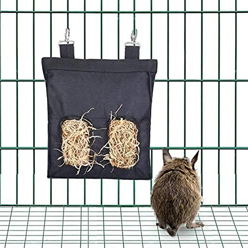 Cría de Animales Bolsa de heno Cuelga de la Bolsa Alimentador Conveniente Titular de la alimentación Contenedor Dispensador para Conejo Guinea Conejillo Pequeño Dispositivo Alimentador