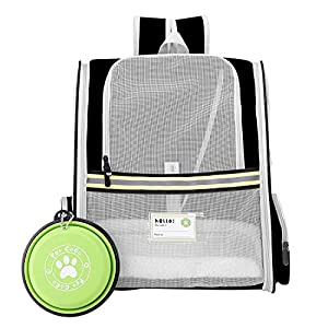 UG Pet Carrier Backpack,Ventilated for Large and Small Dogs and Cats Safety Features Travel Airline-Approved Outdoor Bag