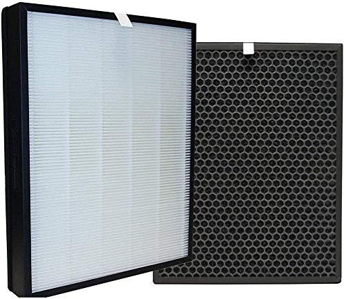 Zealing Kit de Repuesto de carbón Activado y HEPA Filtro,FY3432/10 y FY3433/10 Filtros,Compatible con Philips AC3256/60 purificador de Aire