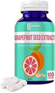 Grapefruit Seed Extract Capsules by Ahana Nutrition - GSE Powder Supplement Serves as an Antioxidant and Supports The GI Tract and Urinary Tract (900mg – 100 Easy to Swallow Capsules)