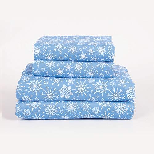 4-Piece Snowy Days Winter Snowflake Blizzard Deep...