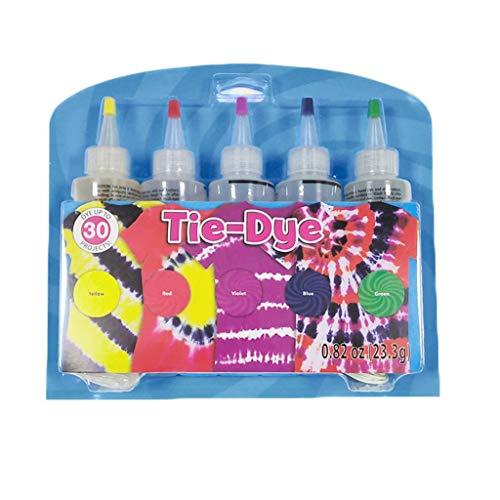 About1988 Tie Dye Kit, Textilfarben Set, T-Shirt DIY Kleidung Graffiti Dye Party, Wasserfest Textilfarbe, DIY Tie Dye Kit für Stoff Textil Handwerk Kunst Kleidung Farbe (B)