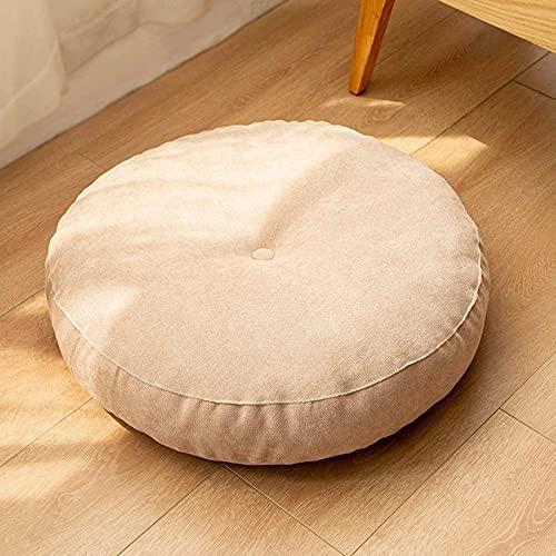 HYLX Cojín de Suelo de futón Tradicional japonés, Estera de Silla de sofá Perezoso, cojín de Asiento de decoración del hogar de Oficina Suave y Grueso para sillón, Silla de jardín