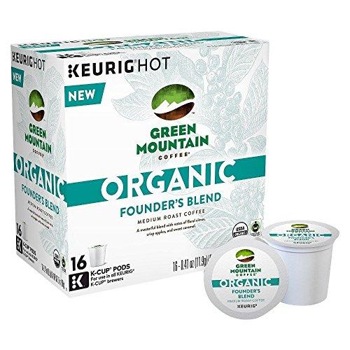 Green Mountain Coffee Organic Founder's Blend Coffee Medium Roast 16 K-Cups