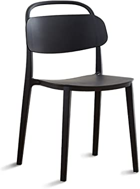 Modern Simplicity Solid Color Leisure Chair Home Cafe Use Dining Chair 6 Can Choose (Color : Black, Size : 48 * 48 * 83cm)