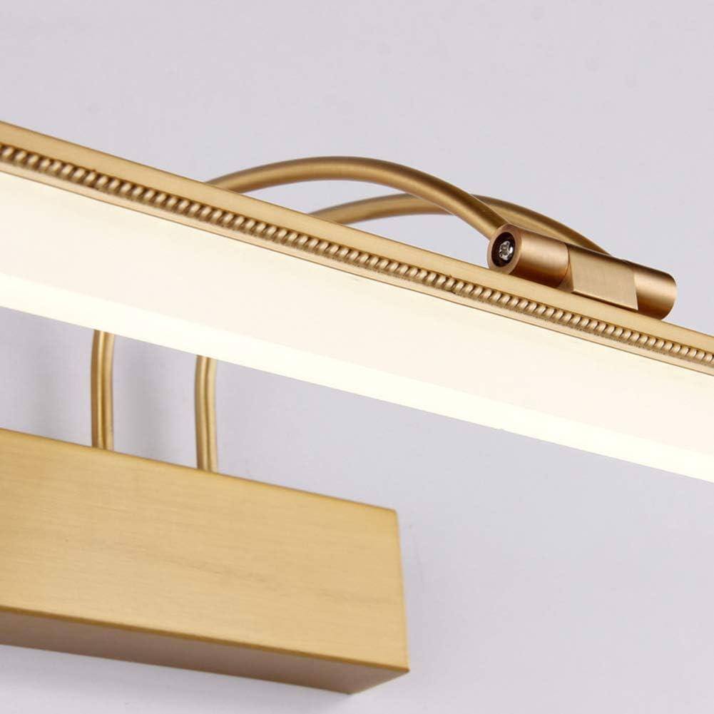 Verstellbar Led spiegelbeleuchtung, IP44 Wasserdicht Kabinett spiegelbeleuchtung Modren Wand spiegel vordere eitelkeit lichter - 53cm(20.9 in)-Kupfer 11W Kupfer
