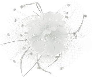 Beaupretty魅惑的な帽子羽メッシュネットベールパーティー帽子ピルボックス帽子羽の魅惑的なキャップレディース結婚式宴会カクテルパーティー(ベージュ)