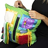 Fidget Blanket- Fidget Pillowcase Cover for Those Suffering from Memory Loss and Dementia, by American Heritage Industries(Green)