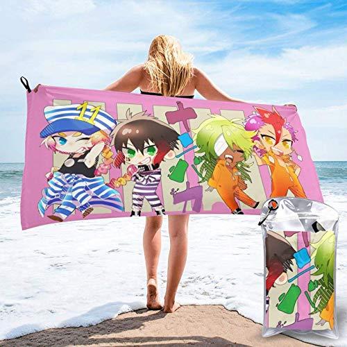 Serviette de plage tendance Nan-Baka pour adulte, séchage rapide, 80 x 150 cm, super absorbante, pliable