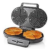 YFGQBCP Waffle Maker Hierro, 1200W 220V Máquina de gofres de Doble corazón con Doble corazón con Placas antiadherentes y Control de Temperatura Ajustable para la Cocina a casa