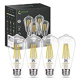 LOHAS Dimmable Vintage LED Edison Bulb, 13W(150W Equivalent) ST64 Edison LED Bulbs, Warm White 2700K Antique Light Bulb, 1500LM High Brightness, E26 Medium Base LED Filament Bulbs, UL Listed, 4 Pack