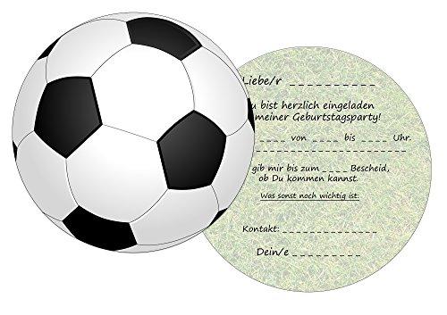 20 Einladungskarten Kindergeburtstag: Fussball Geburtstagseinladungen Einladungen Geburtstag Kinder Jungen Mädchen