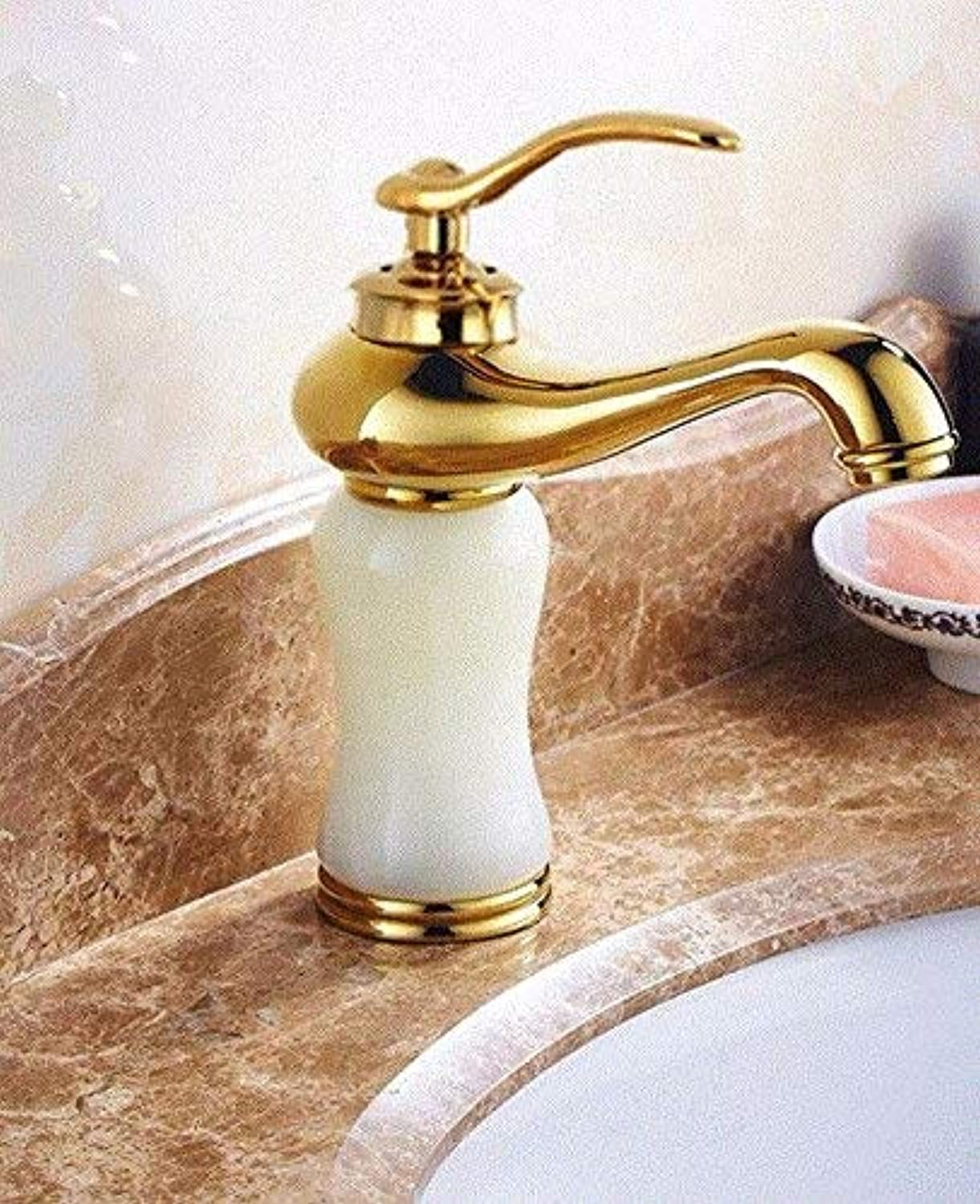 CFHJN HOME Washbasin Hot And Cold Single Hole Single Handle Bathroom Blender Copper Sink Taps