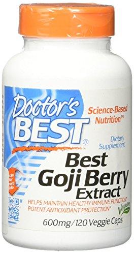 Doctor's Best Goji Berry Extract, 600mg, 120 Vegetarian Capsules