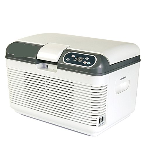 SL&BX auto koelkast, 7,5 liter, auto en thuis mini koeltechniek draagbare mini-universele mini-koelkast mini woonhuis kleine koelkast met vriesvak