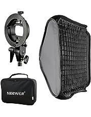 """Neewer® 24""""x24""""/60x60cm Bowens Mount Softbox met Grid en S-type Flash Bracket voor Nikon SB-600,SB-800,SB-900,SB-910,Canon 380EX,430EX II,550EX,580EX II,600EX-RT,Neewer TT560 Flash Speedlite"""
