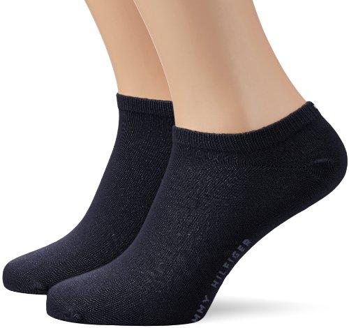 Tommy Hilfiger TH Men Sneaker 2P Socquettes, Bleu Marine foncé, FR : 43-46 (Taille Fabricant : 43/46) Homme