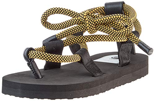 G-STAR RAW Ghillie OG, Chanclas Mujer, Multicolor (Black/Yellow 8691-2069), 38 EU