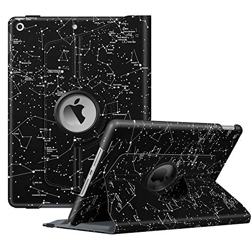 Fintie Rotating Case for New iPad 7th Generation 10.2 Inch 2019 - [Built-in Pencil Holder] 360 Degree Rotating Smart Protective Stand Cover with Auto Sleep/Wake for iPad 10.2', Constellation