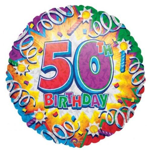 Verjaardag Explosie Leeftijd 50 Folie Ballon