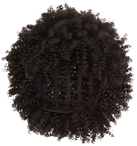 SiYi Afro Curly Wig for Black Women Black Short Kinky Synthetic Hair Wigs Heat Resistant Fluffy None Lace Costume Full Wigs