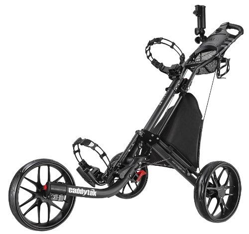 Caddytek EZ-Fold 3Roues Chariot de Golf, Gris foncé