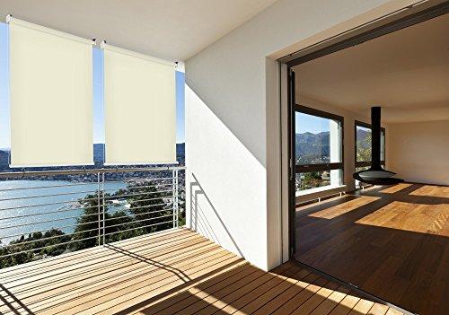 Sonnen-schutz Außen-rollo Balkon-rollo 180 x 230 cm beige creme Balkon-sicht-schutz 1 Stück