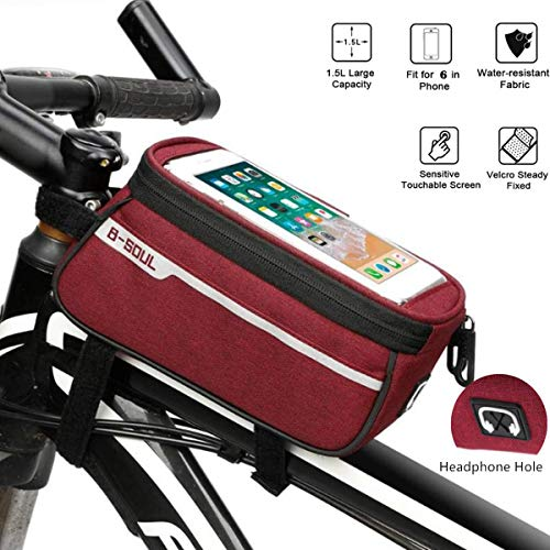 günstig Fahrradrahmentasche Wasserdichte Handyhalterung für Fahrräder Ideal für die Navigation Fahrradrahmentasche… Vergleich im Deutschland