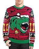 Hässliche Weihnachtenspullover T-Rex Verärgerter Dinosaurier