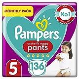 Pampers Premium Protection Nappy Pants Lot de couches pour bébé douces pour la peau et faciles à enfiler